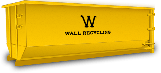 wall recycling 15 yard dumpster
