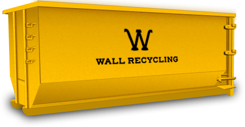 wall recycling dumpster